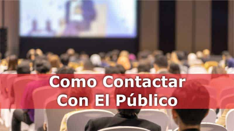Como conectar con el público