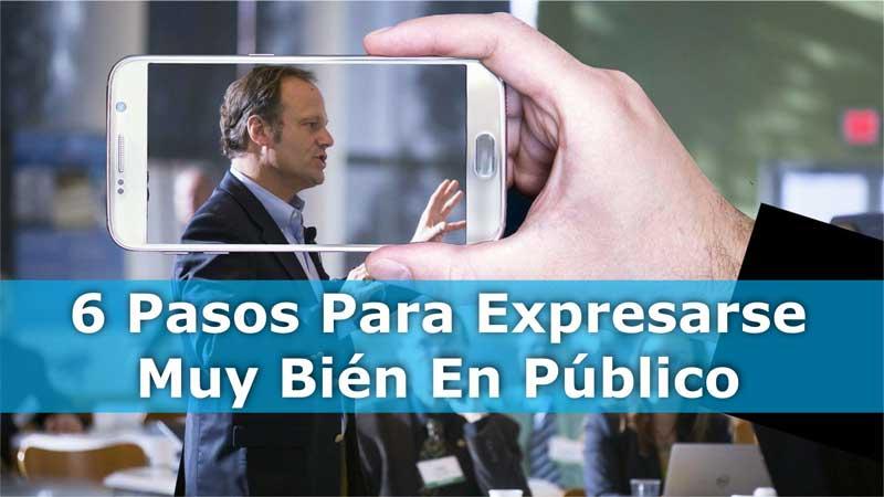 Pasos para expresarse bien en público